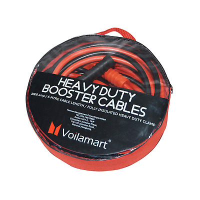 Voilamart Heavy Duty 3000AMP 6M Car Battery Jump Leads Booster Cables Jumper for