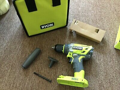 Ryobi P251 18-Volt Brushless Hammer Drill (tool only )handle & bag/ tested works