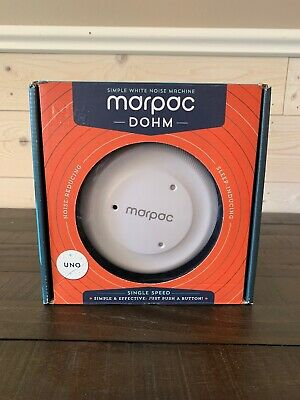 Marpac Dohm Uno Natural Sleep Sound Machine Simple White Noise Machine OPEN BOX
