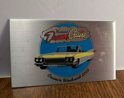 VINTAGE Detroit Oakland County Woodward Dream Cruise 2000 Metal DASH Medallion