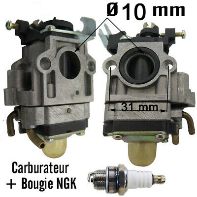 carburateur entraxe 31 tr 10 mm + bougie NGK piece débroussailleuse taille haie