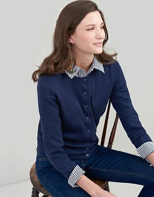 Joules Womens Skye Cardigan in FRENCH NAVY Size 16