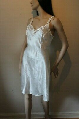 Vintage St Michael M&S nightdress 12 UK 1990's  cream lace Slip Marks & Spencer