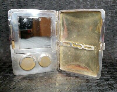 RARE Vintage Antique WHSCO Sterling Silver Mirror-Make-up Card/Coin Holder
