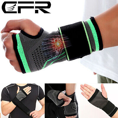 Wrist Support Hand Brace Palm Bandage Carpal Tunnel Sports Gym Pain Relief AFQ