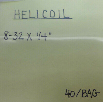 (40) Helicoil 8-32 X 1/4