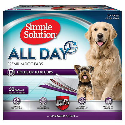 Simple Solution Premium Dog and Puppy Training Pads, Lavender Scented, Pack of