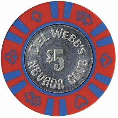 Del Webb's Nevada Club Laughlin $5 Chip 1978