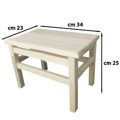 Stool Chair Rests Wooden Feet Dimensions 23x34cm Height 25cm