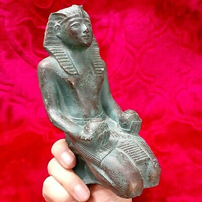 Statue Of Ancient Egyptian Pharaonic TUT ANKH AMUN Resin One Of the Rare Bieces