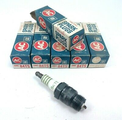 Set of 6 Vintage Spark Plugs ACDelco 84TS