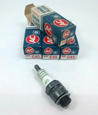 Set of 4 Vintage ACDelco C45 Spark Plugs