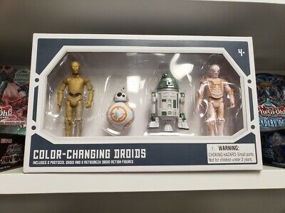 Disney Park Star Wars Galaxy's Edge COLOR CHANGING DROIDS 4Pk (2 Protocol) New