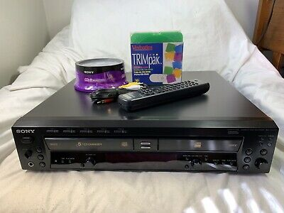SONY RCD-W500C Combo Compact Disc Recorder & 5-Disc Changer w/ Remote & Discs