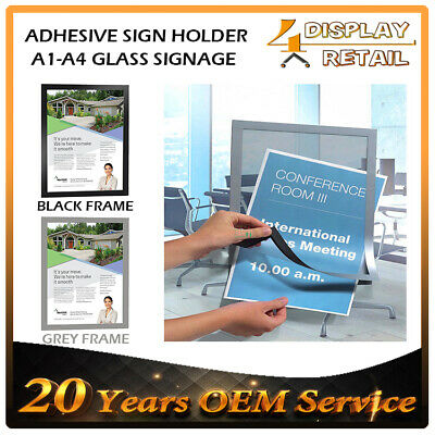 A3 A4 A5 Sign holder Windows Display Poster Double Sided Adhesive Magnetic
