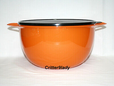 NEW Tupperware Classic Thatsa Nesting Mega 42 cup Bowl Halloween Orange Black