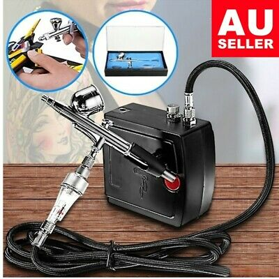 Dual Action Airbrush Compressor Kit Air-Brush paint Spray Gun Art model p5