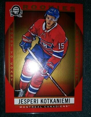 2018-19 Opc Coast To Coast Canadian Tire Jesperi Kotkaniemi Rookie #190 Red