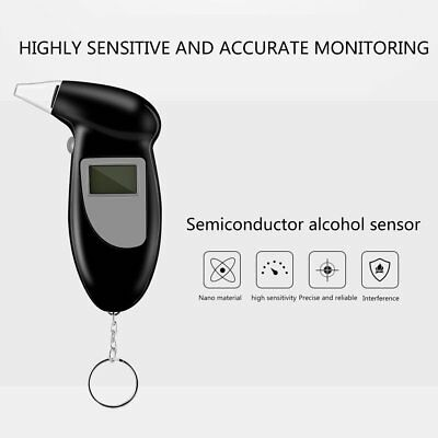 LCD Police Digital Breath Alcohol Analyzer Tester Breathalyzer Audiable AU O