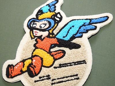 "US Army AAF WW2 EASTMAN WASP WOMEN'S FERRY PILOT CHENILLE ""FIFINELLA"" PATCH MINT"