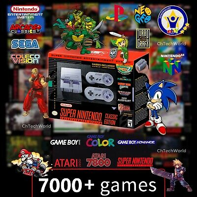 Super Nintendo Classic Edition SNES Mini Entertainment System 7000 Games