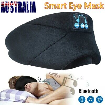 Smart Bluetooth 3D soft Sleeping Eye Mask Headphone Travel 100% Blackout Relax U