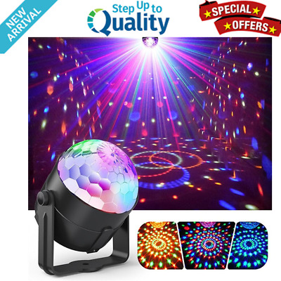 Disco DJ Light LED Stage Lights Ball Lumiere Sound Activated Laser Projector NEW