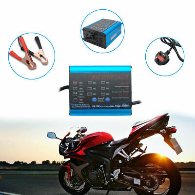 Car Battery Charger Automatic Intelligent 12V/6V Cars Bike Vans 4 Charging Modes
