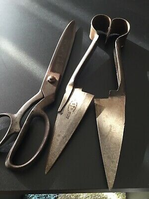 Vintage hand shears made in Sheffield England No. 1 & Wiss Vintage Scissors 32cm