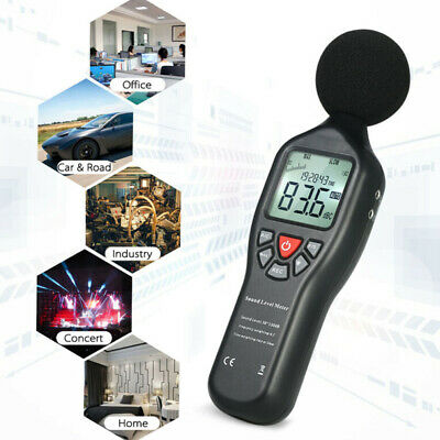 Digital Sound Level Pressure Tester Meter DC Adapters USB Cable Cord Accessories