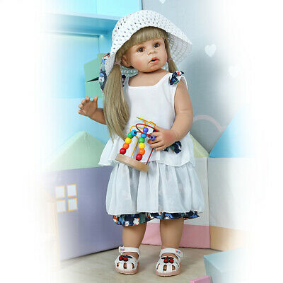 Child Model Girl Reborn Baby Dolls Full Vinyl Standing Reborn Dolls 70CM Girl