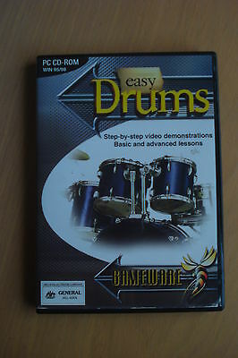 + Easy Drums Basic To Advanced Lessons (As New) Pc Cd-Rom [Oz Seller]