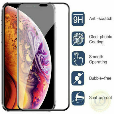 Full Cover Curved Tempered Glass Screen Protector For iPhone 11 Pro Max XR X XS