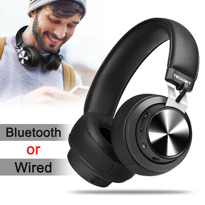 Wireless Bluetooth Headphones Stereo Wired Earphone iPhone iPad Over Ear Headset
