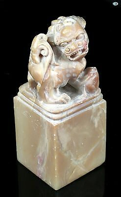Fine 1800 Antique Asian Chinese Fu Dog Temple Statue Jade All Hand Carved