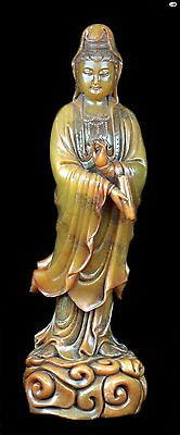 Fine Antique 1800 Asian Chinese Shoushan Hand Carved Female Statue Figurine