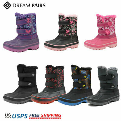 DREAM PAIRS Boys Girls Toddler Little Big Kid Ducko Warm Winter Snow Boots New