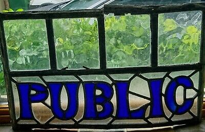 Pub Stained Glass Window Signs