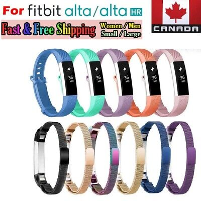 For Fitbit Alta HR Ace Wrist Band Replacement Silicone -Metal Bands Small Large