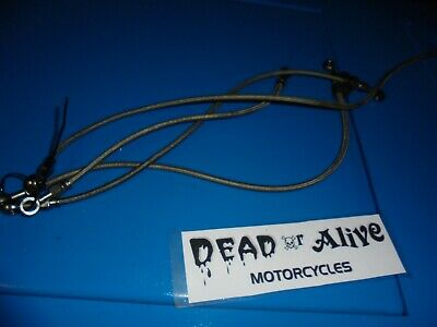 SUZUKI BANDIT 600cc  (1998)  FRONT AND REAR STAINLESS BRAKE LINES