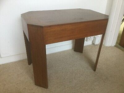 Vintage Mahogany hexaganol side occasional table