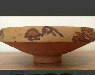 Pre-Columbian pottery bowl with birds - Ica culture Peru - 19 cm