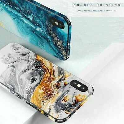 For iPhone 11 Pro XS Max XR 8 7 6S Plus Case Shockproof Tough GLASS Marble Cover
