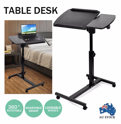 Adjustable Mobile Portable Laptop Desk Lap Bed Side Foldable Table Office Stand