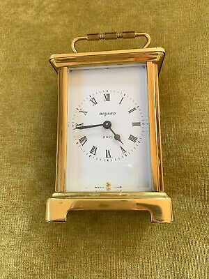 Vintage BAYARD brass french 8 day carriage clock working order