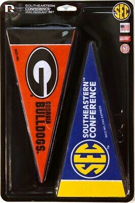 SEC (Southeastern) Conference NCAA Teams 4x9 Mini PENNANT Banner Flag Set