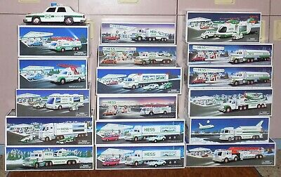 Lot of 18 Hess Trucks 1988-2002 Preowned But Most New In Box