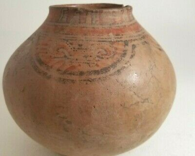 PRE-COLUMBIAN NICOYA BOWL COSTA RICA. LARGE. REAL: ROOT MARKS. 600-900CE maya