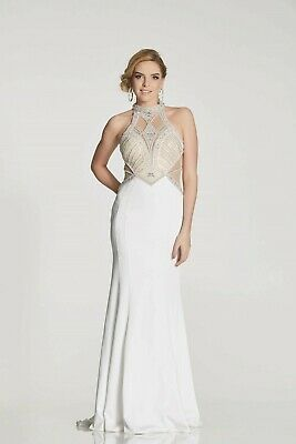 Illusion Prom Trixie Ivory White Prom Pageant Dress 10