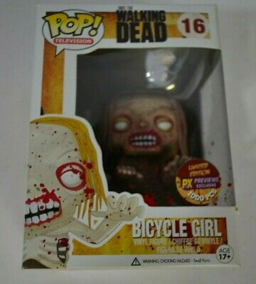 Funko Pop Vinyl The Walking Dead BICYCLE GIRL (Bloody, Previews exclusive)